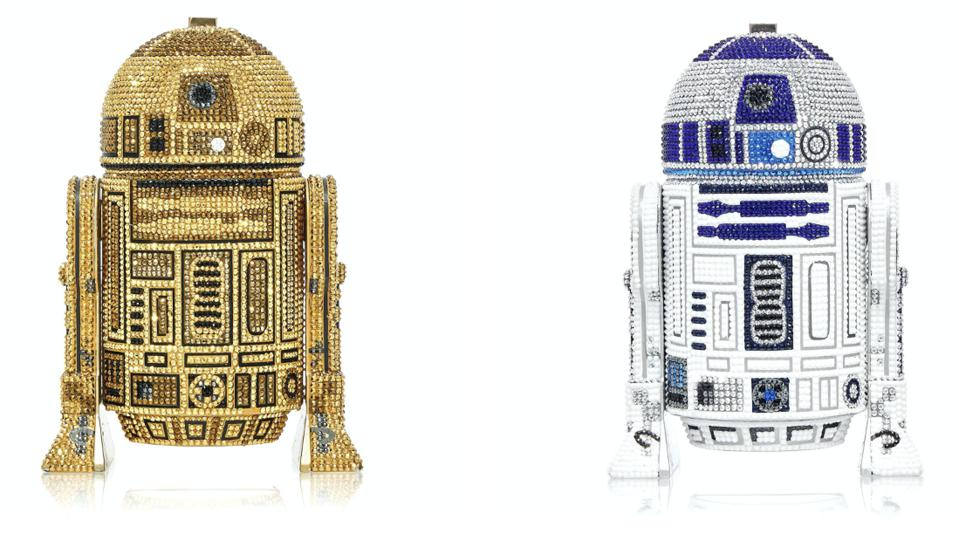 The Star Wars x Judith Leiber Couture collaboration reimagines the iconic R2-D2 droid in two colorways, Classic and Gold.
