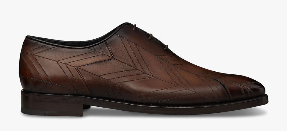 Chevron Demesure Leather Oxford