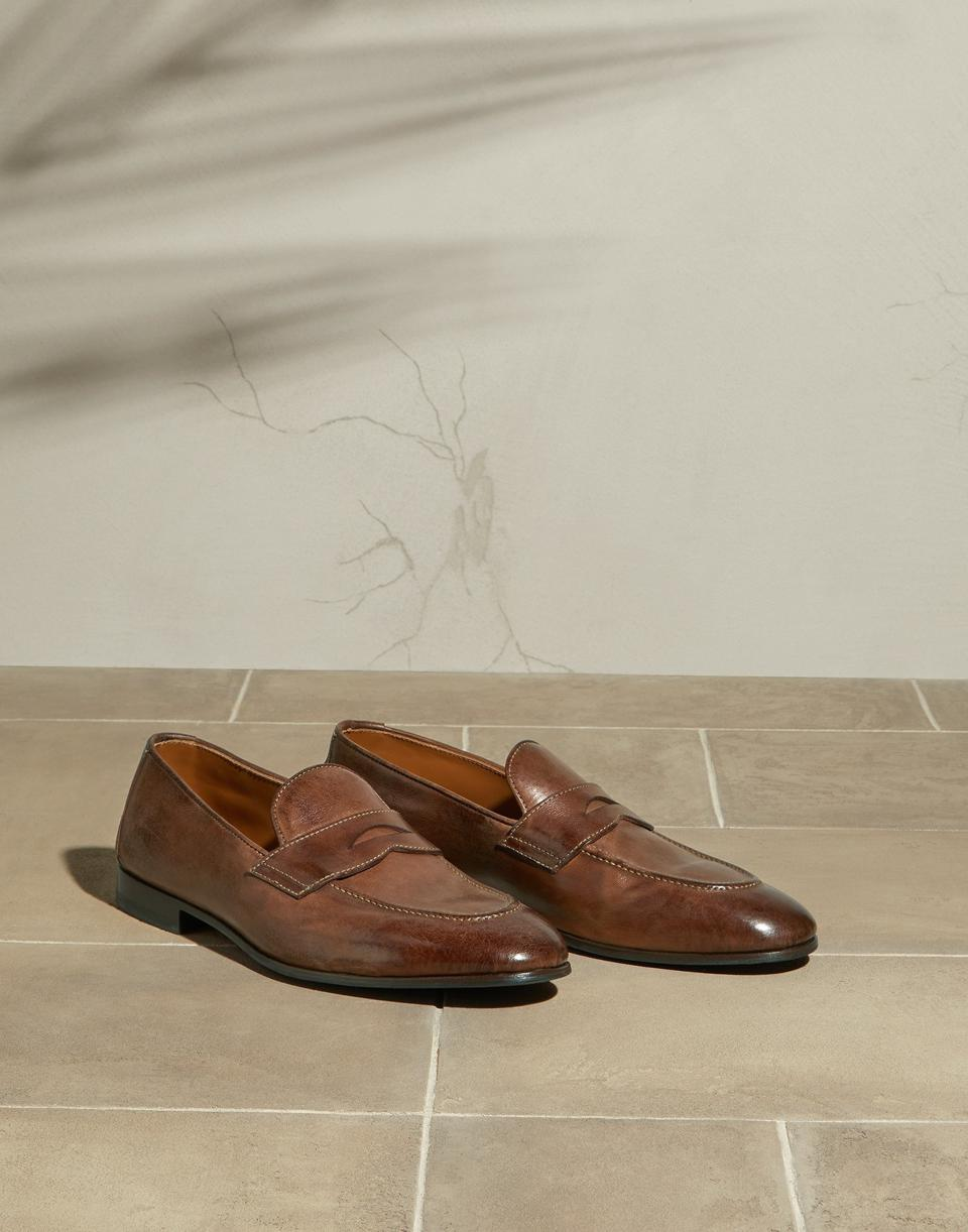 Glass Effect calfskin penny loafers