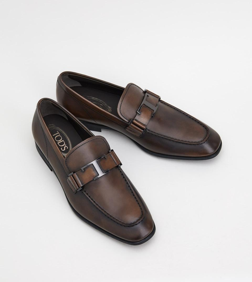 Brown Timeless Leather Loafers
