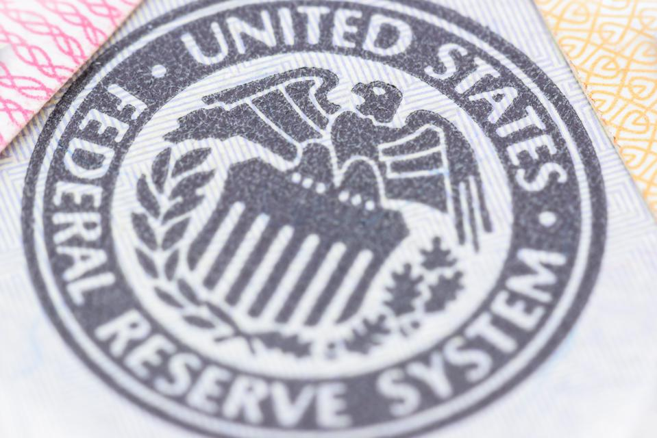 Seal of the Federal Reserve System, currency concept.