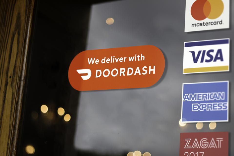 DoorDash window cling