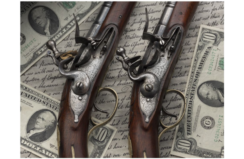 The flintlock pistols of Alexander Hamilton are going up for auction. Rock Island Auction Company is estimating a price of $1 million to $3.5 million.