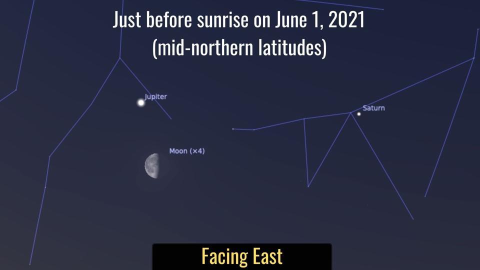 Tuesday, June 1, 2021: Moon and Jupiter