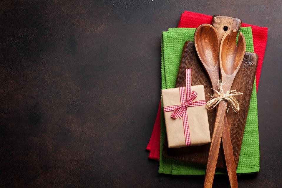 Christmas cooking table