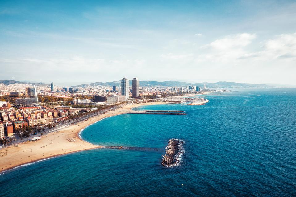 Barcelona Beach Spain Europe cheap summer travel