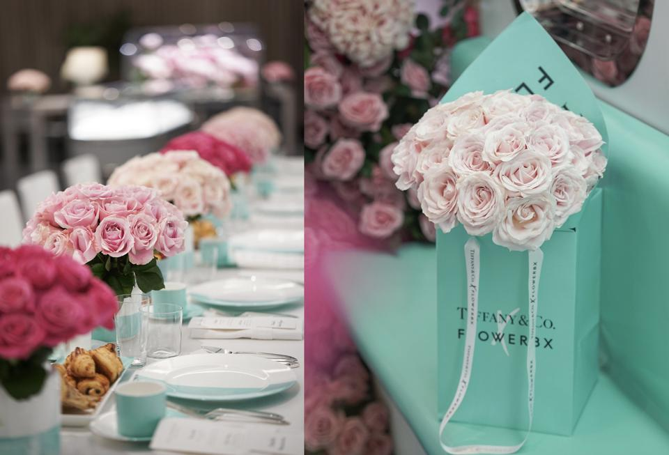 flowers at Tiffany & Co event