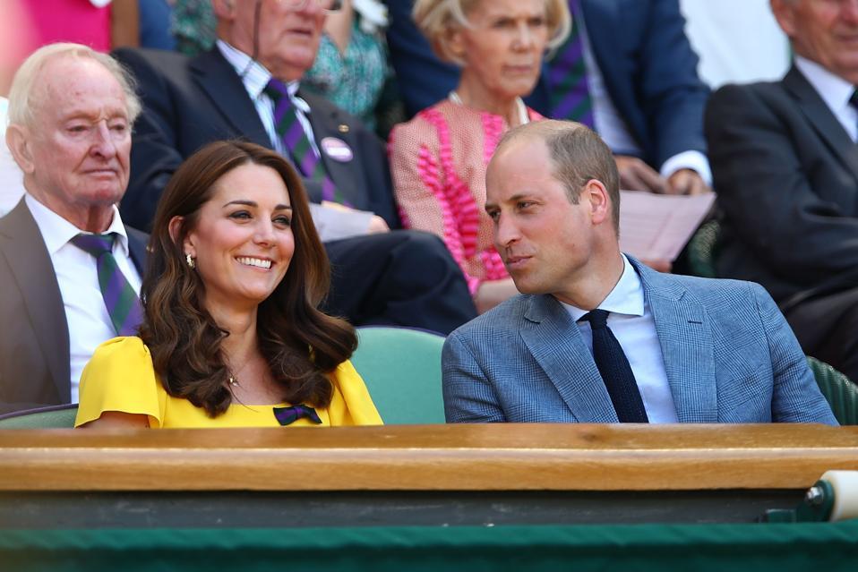 Duke and Duchess of Cambridge attending Wimbledon in 2018