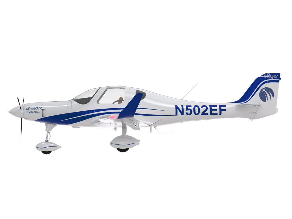 The BYE e-flyers, the first all-electric airplane in the United States.