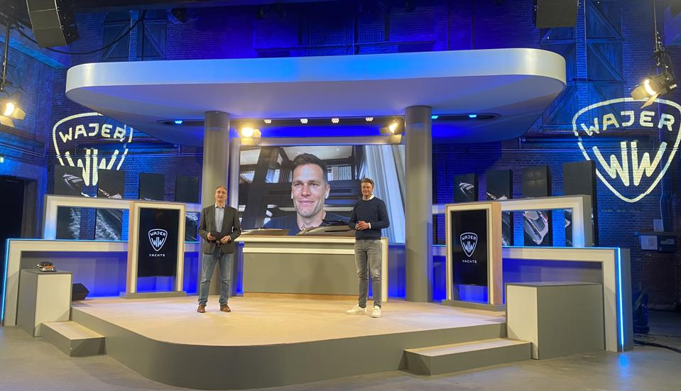 Live digital event with Tom Brady video linking in