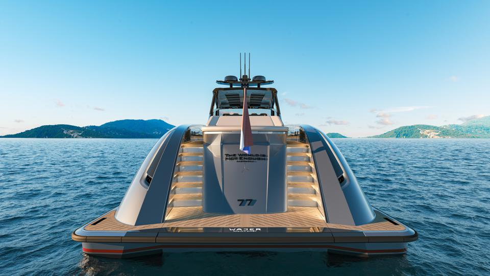 Stern view of the Wajer 77 yacht