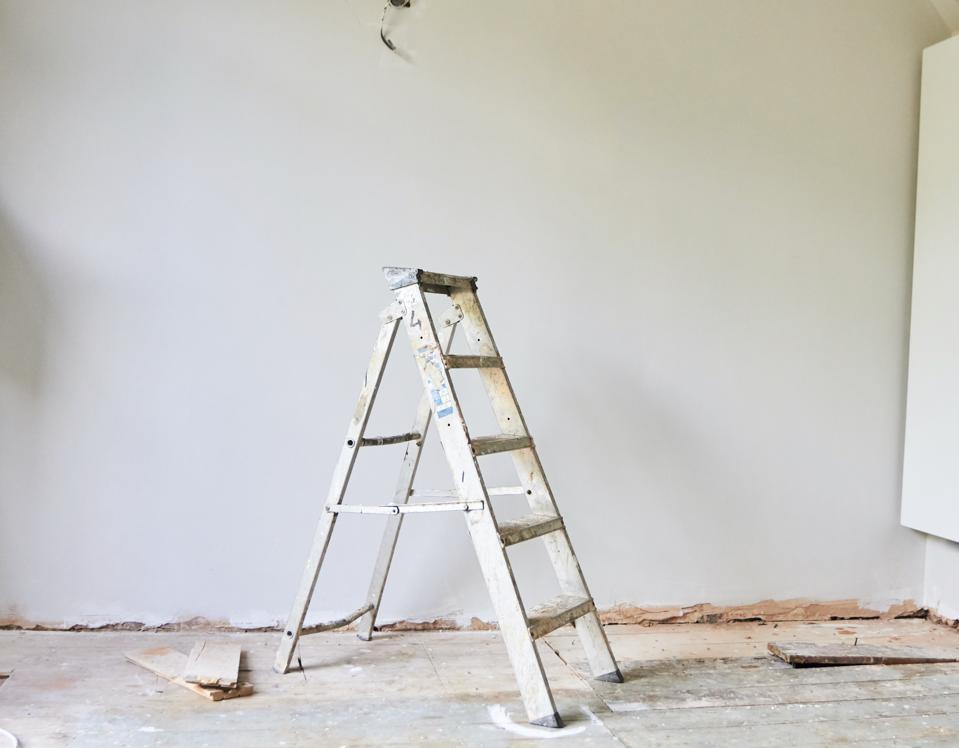 Still life of a step ladder