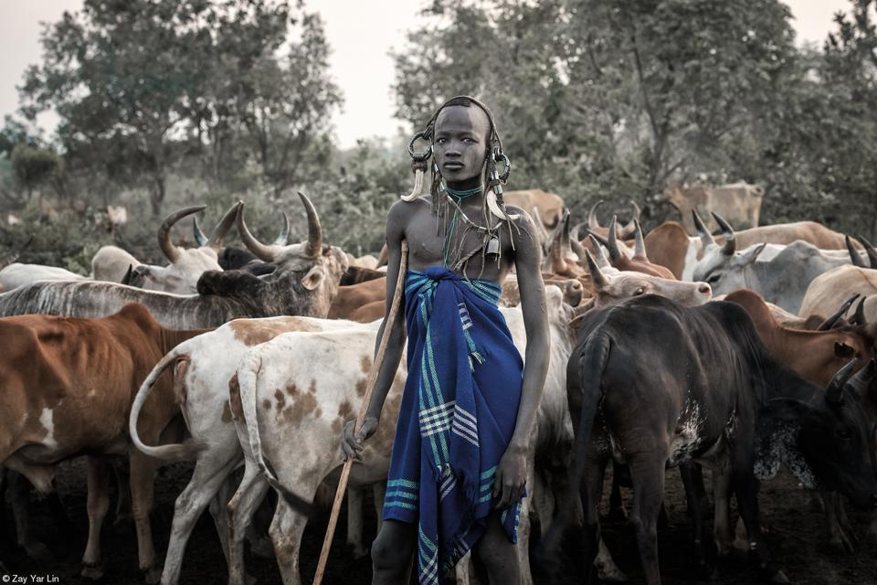 Food Photo Competition: A cattle shepherd in Ethiopia.
