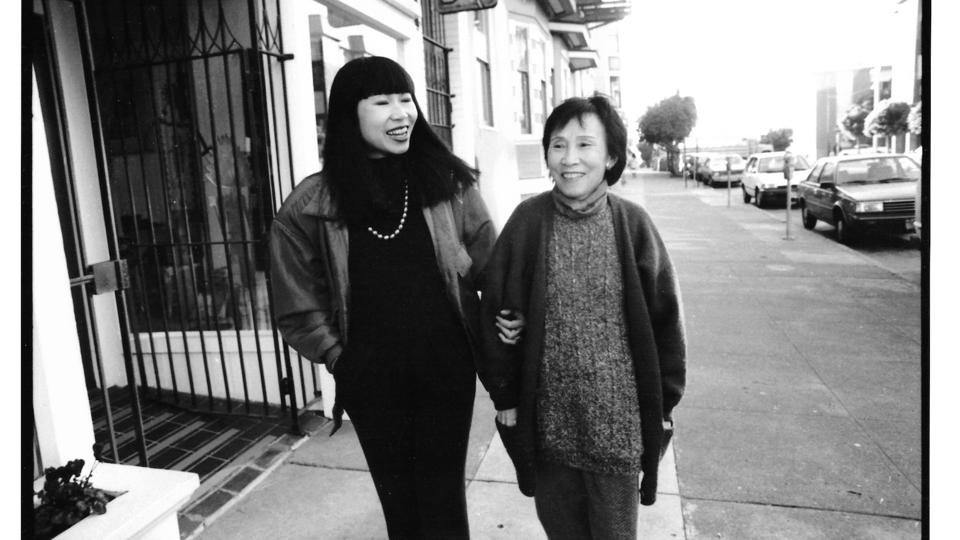 Amy Tan (left) and her mother
