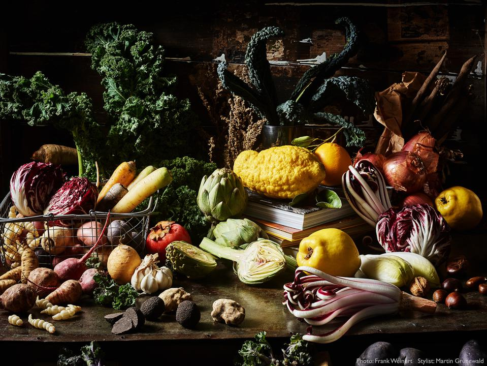 Food Photo competition: A sumptuous still life of winter vegetables and fruit.