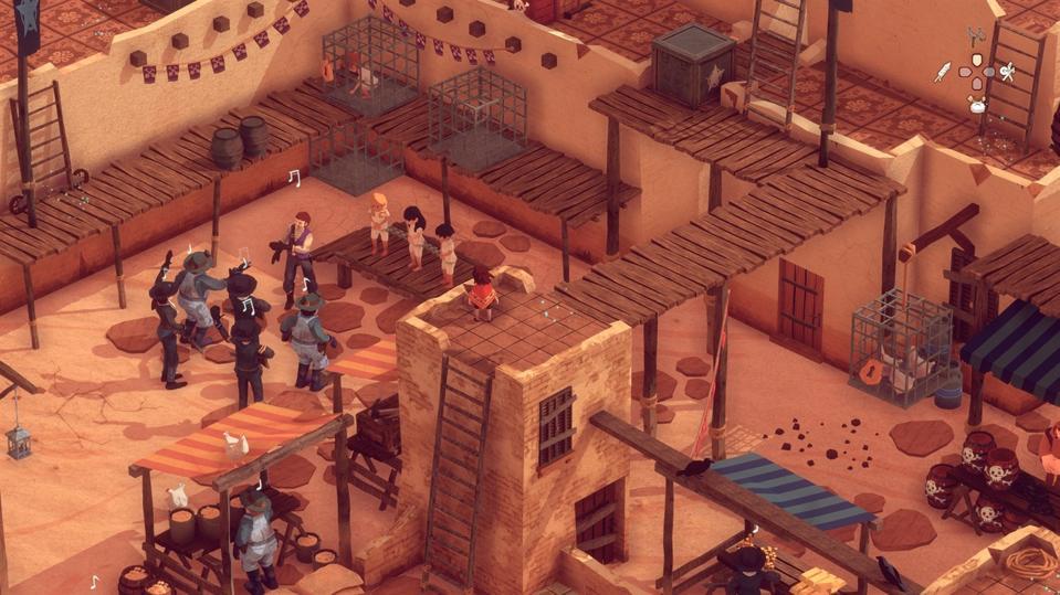 El Hijo screenshot, hiding on top of building