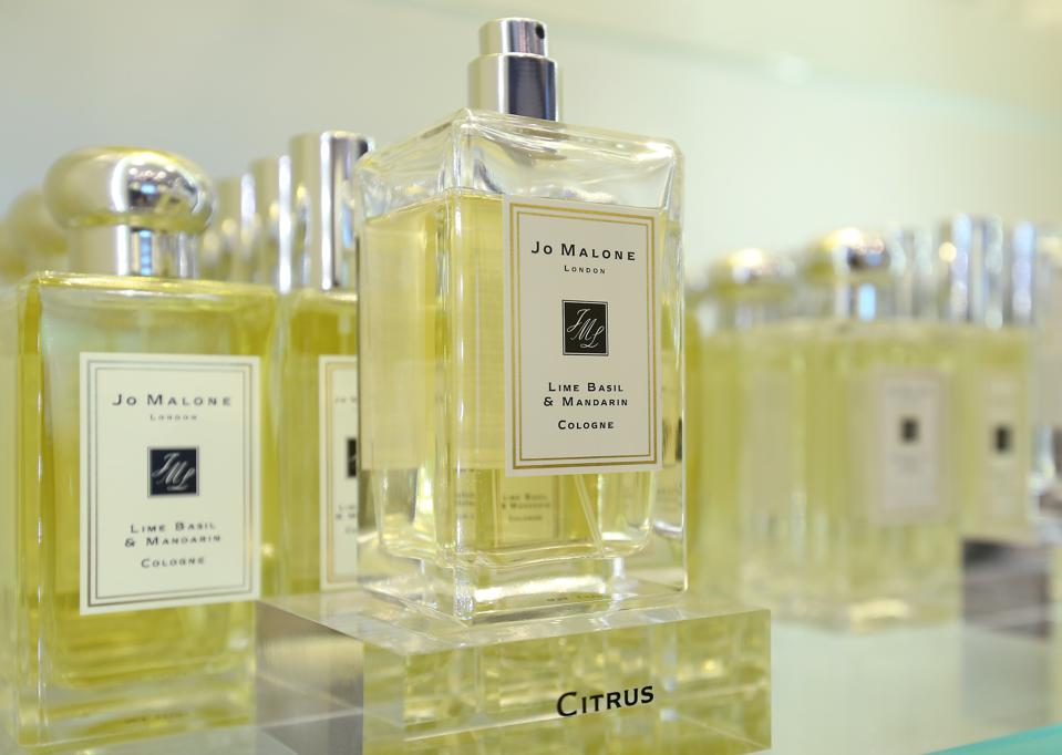 Jo Malone product display in shop at Element in West Kowloon. 10JUN15