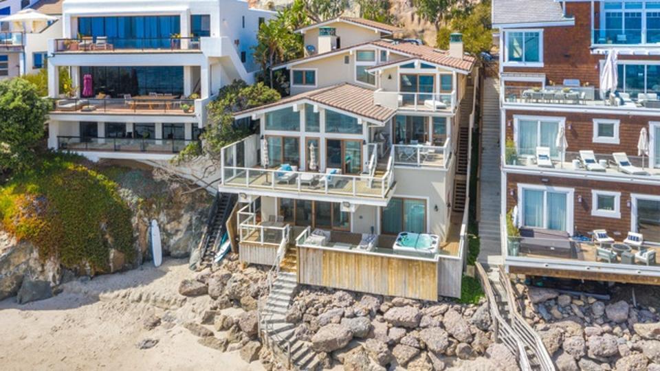 House on the beach in Malibu