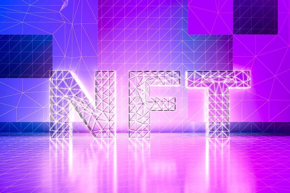 NFT non fungible token concept 3d render