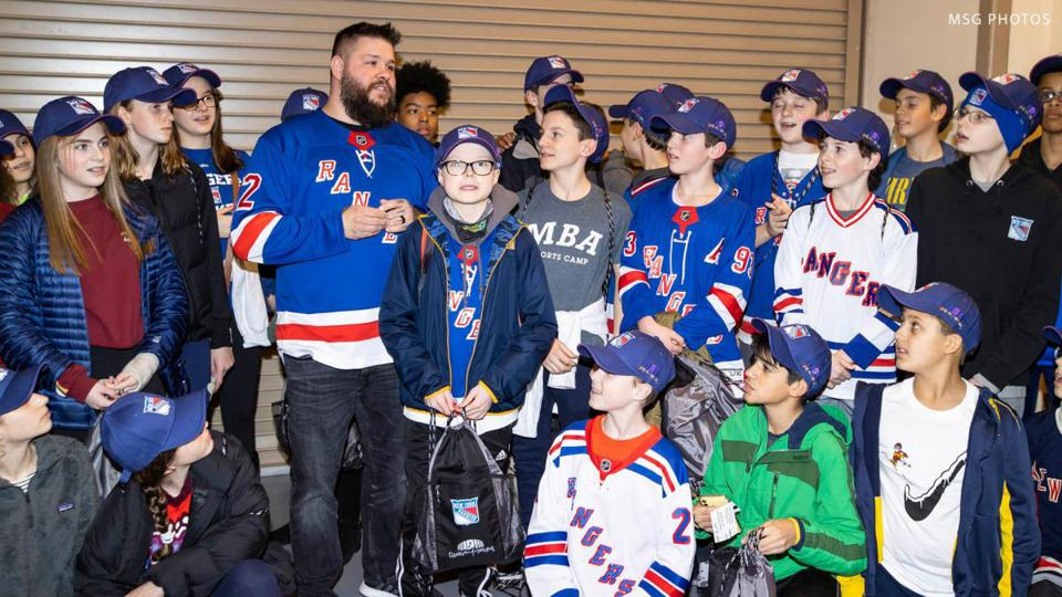 Kevin Owens at Rangers game