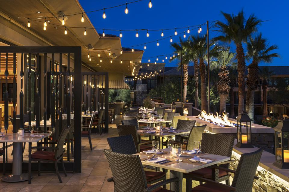 Le Ritz-Carlton Rancho Mirage State Fare patio à Palm Springs, Californie