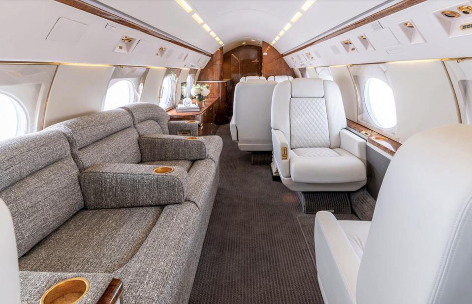 Interior of the Gulfstream GIV-SP
