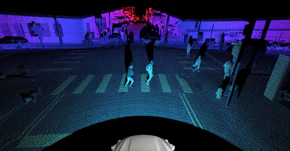Point cloud generated from Argo AI lidar