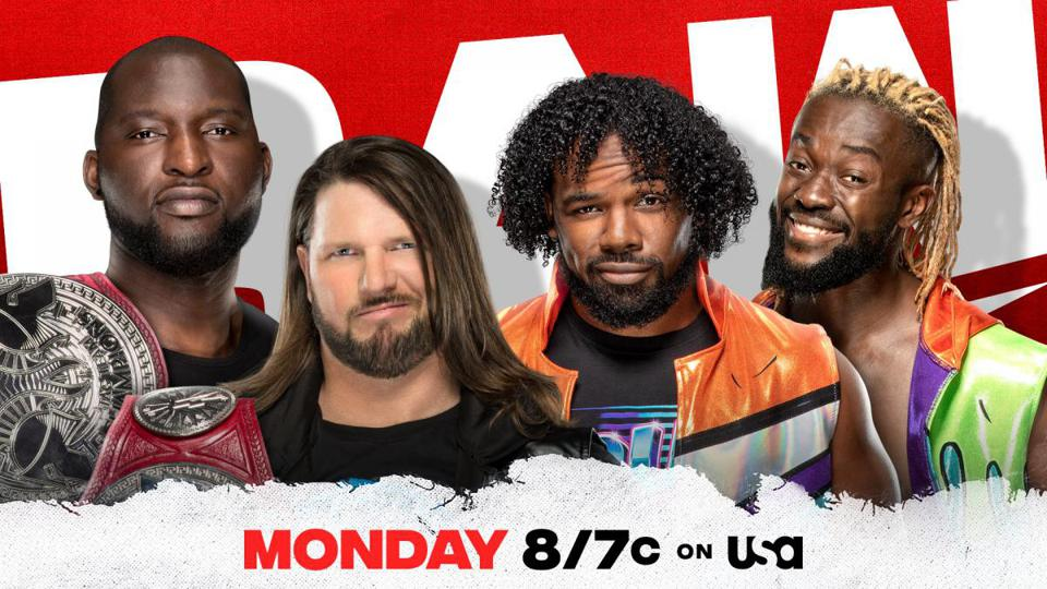 WWE Raw with The New Day vs. Omos and AJ Styles