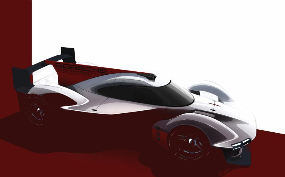 Porsche Penske Motorsport LMDh concept sketch