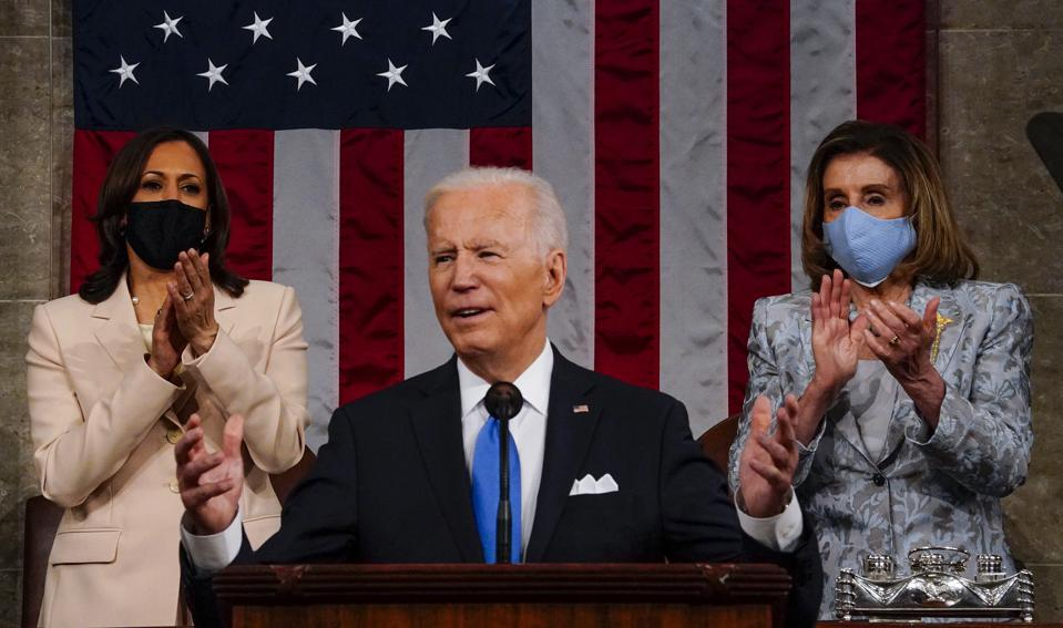 President Biden Delivers First Address To Joint Session Of Congress on April 28th  (Photo by Melina Mara-Pool/Getty Images)