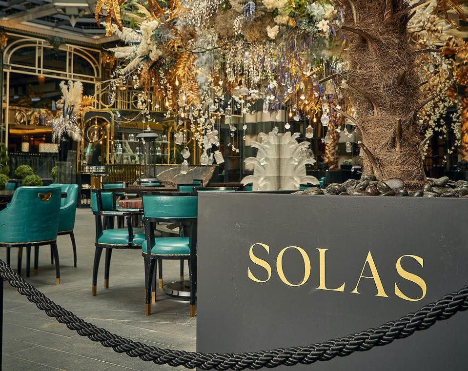 outdoor terrace at The Savoy hotel in courtyard