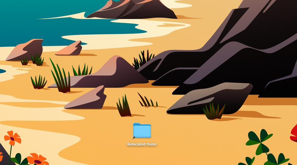 Relocated Items folder on macOS dekstop
