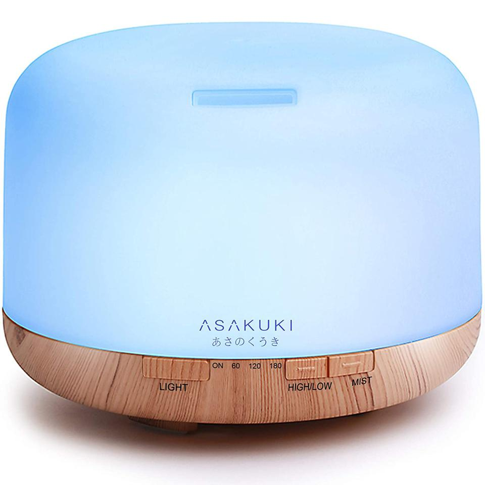 The Best Sleep Aids For A Good Night's Rest: ASAKUKI 500ml Premium, Essential Oil Diffuser, 5 in 1 Ultrasonic Aromatherapy Fragrant Oil Humidifier Vaporizer, Timer and Auto-Off Safety Switch