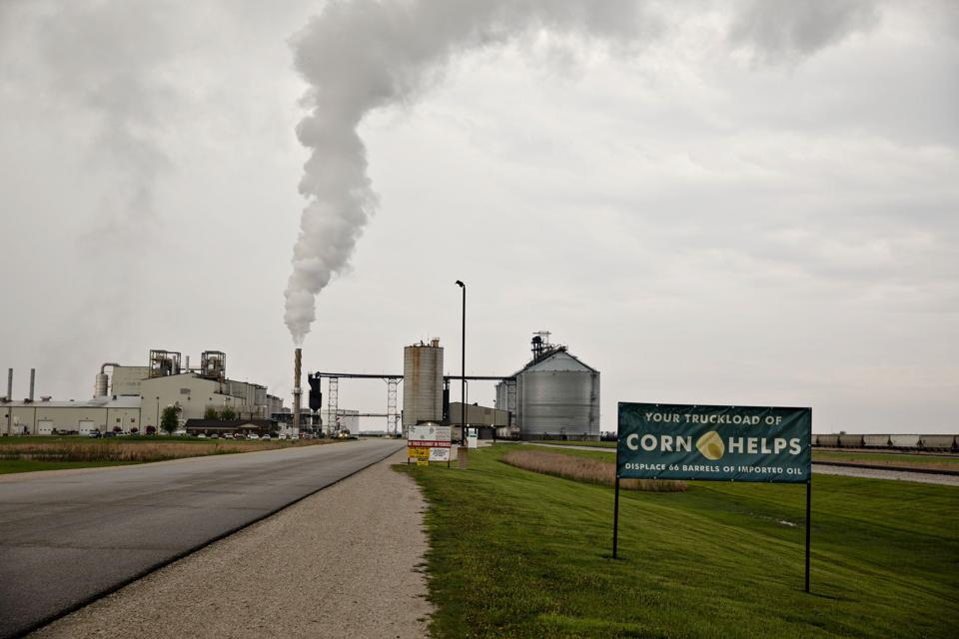The POET LLC Ethanol Biorefinery in Gowrie, Iowa, U.S.