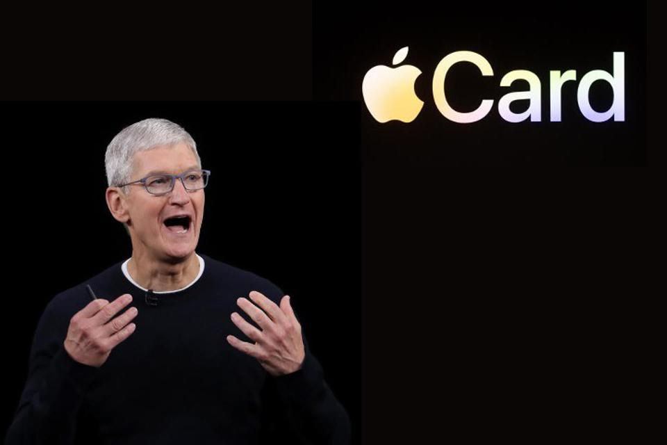 Tim Cook of Apple announcing the Apple Card