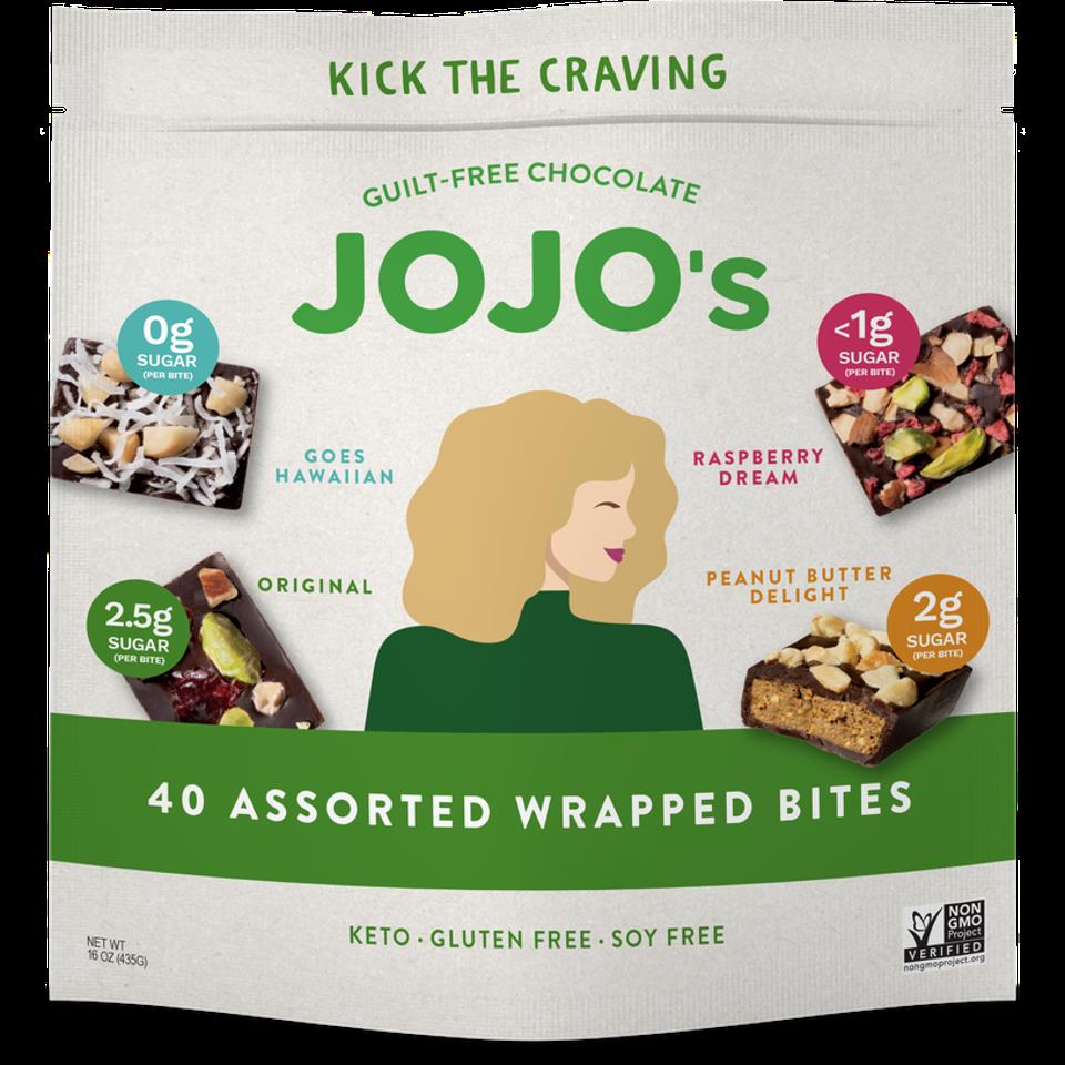 JOJO's Assorted Wrapped Bites Bag.