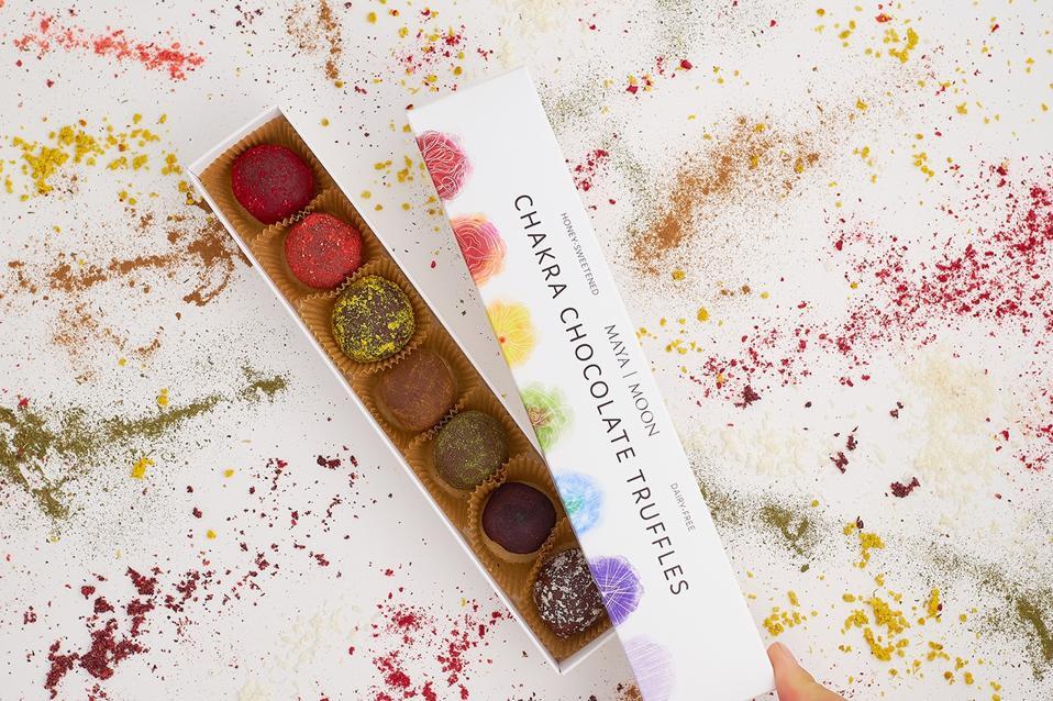 The Chakra Chocolate Truffles Gift Box from Maya Moon Co.