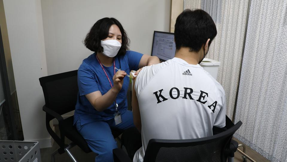 South Korean Olympic Team Recieves Covid-19 Vaccinations