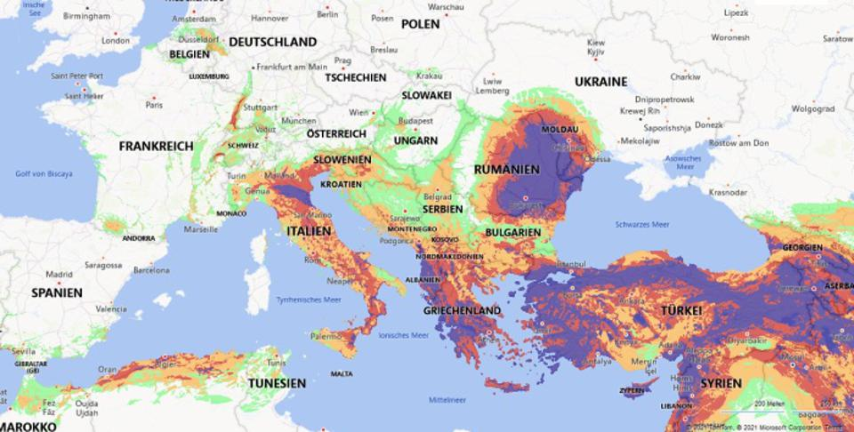 The FM Global Worldwide Earthquake Map is an interactive tool for visualizing earthquake risk.