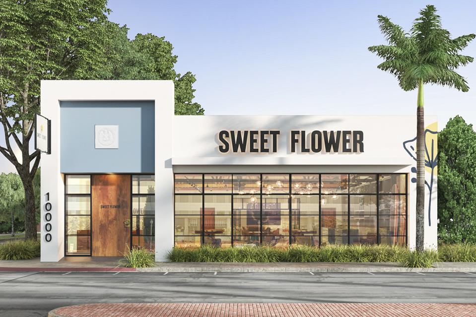 Sweet Flower's dispensary storefront in Culver City, Calif.