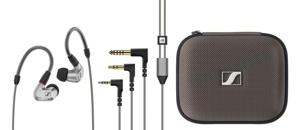 Shot of case, cables and IE 900 earphones