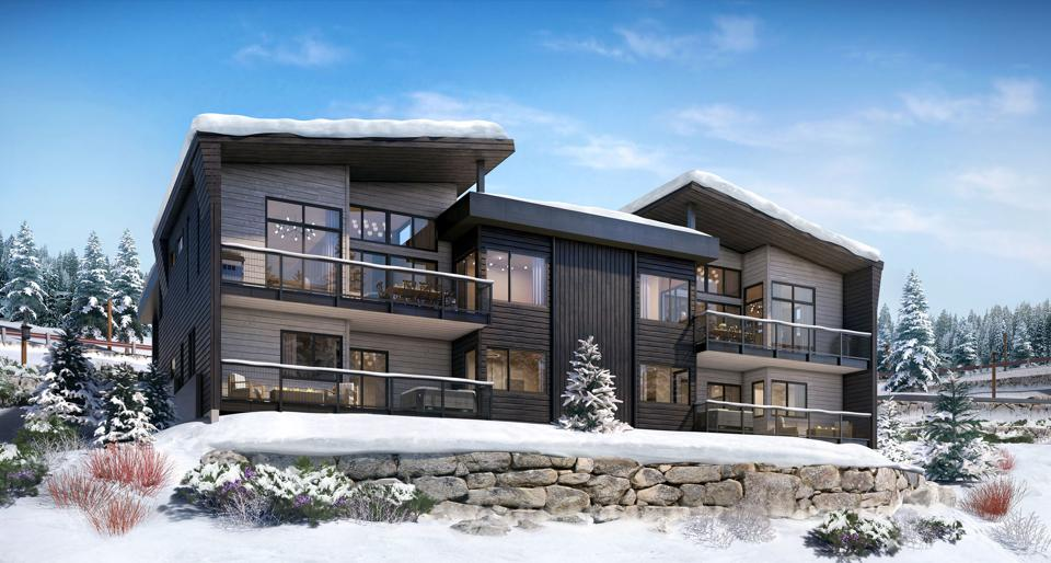 outdoor decking village walk skyline tahoe development 7488 Larkspur Lane Truckee, CA