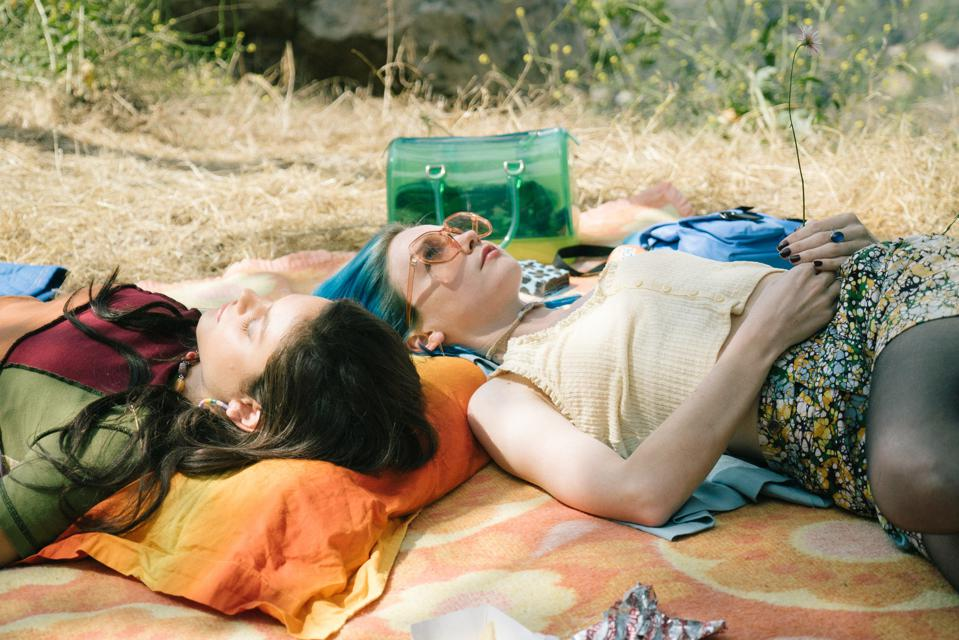 Jessica Barden and Odeya Rush in MTV Entertainment Studios' Pink Skies Ahead