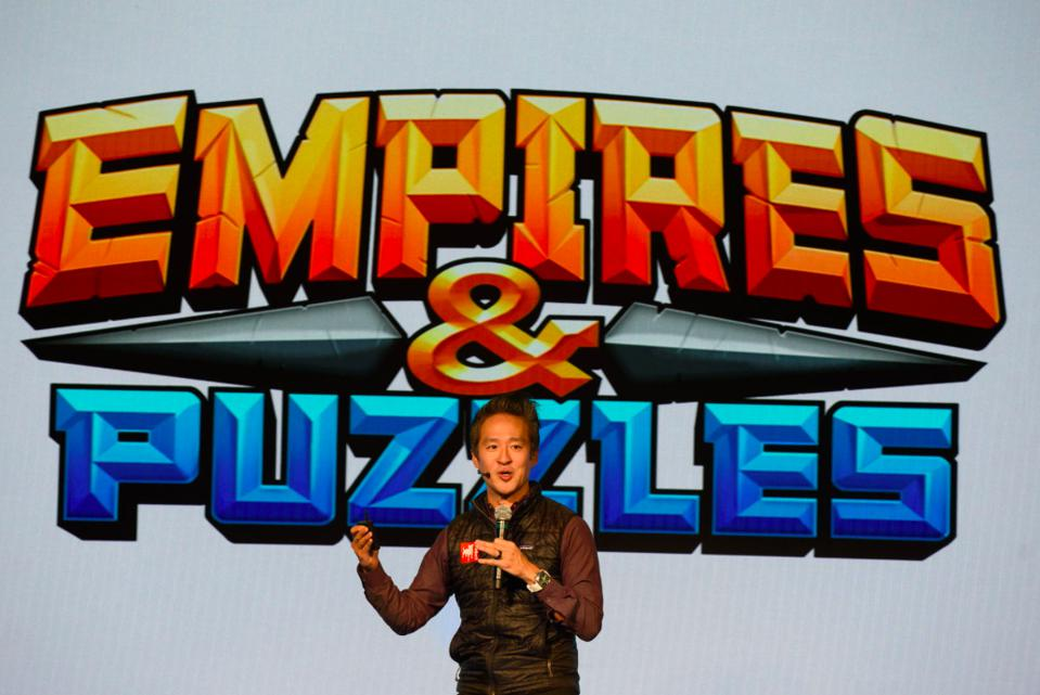 Bernard Kim, Zynga president of publishing at event celebrating Empires & Puzzles