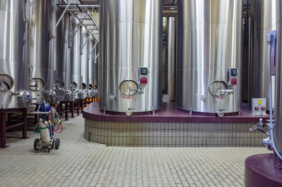 Fermentation tanks.