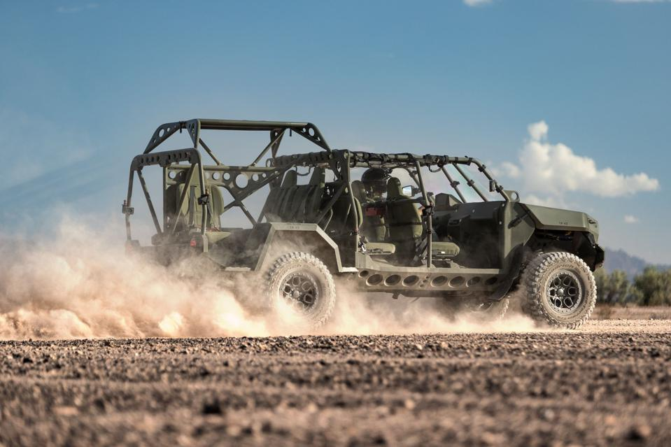 GM Defense's new Infantry Squad Vehicle can carry nine soldiers across terrain at 60 mph.
