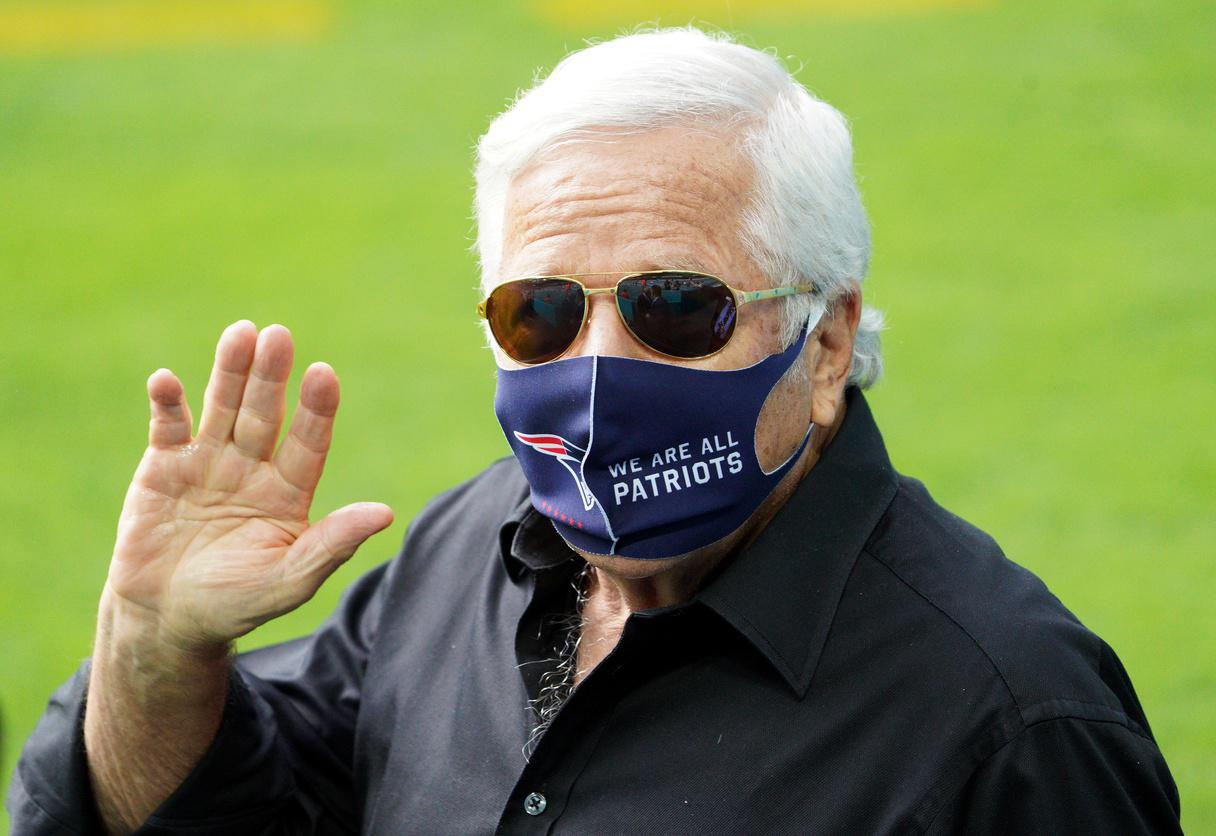 Robert Kraft, pictured at a Patriots game in December 2020.
