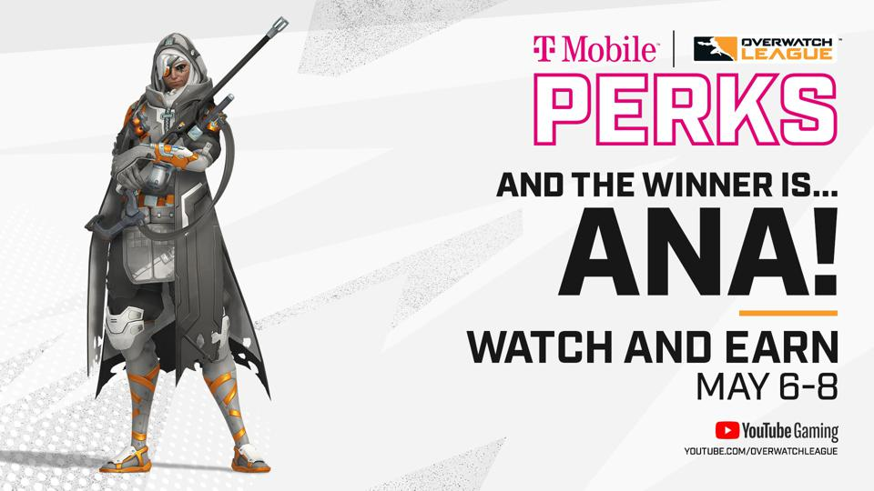Overwatch League May Melee free Ana skin details