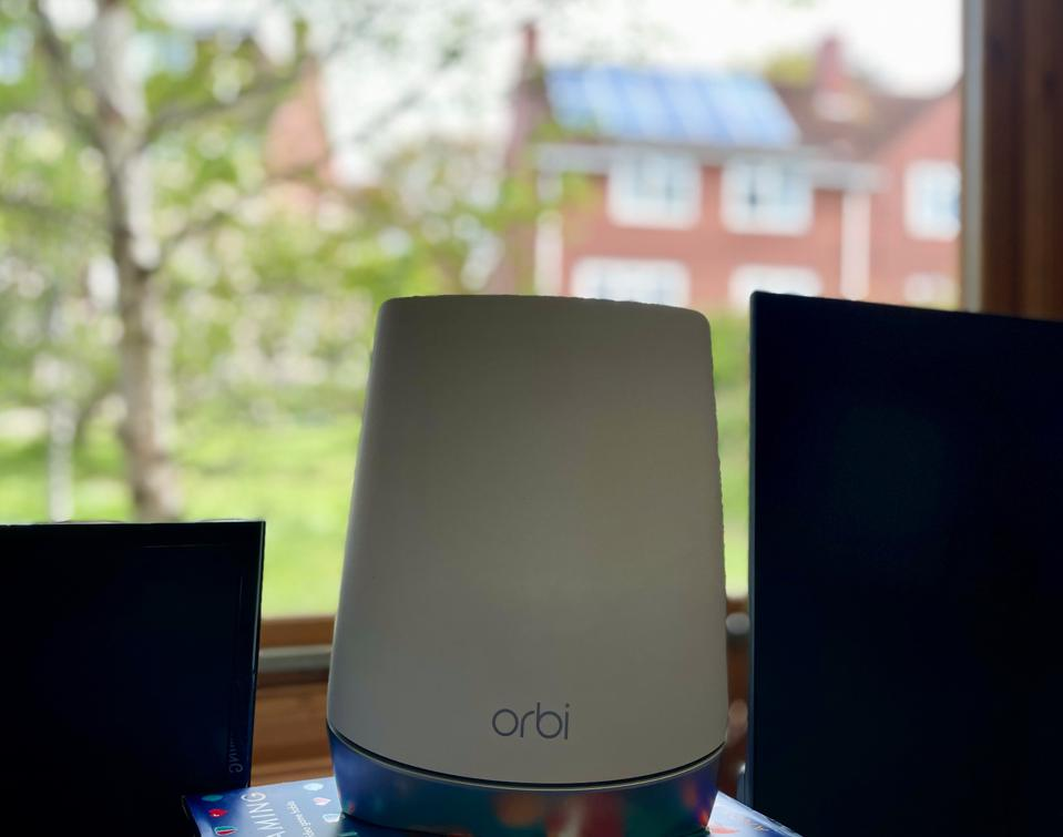 Orbi Satellite Unit in Garden Office