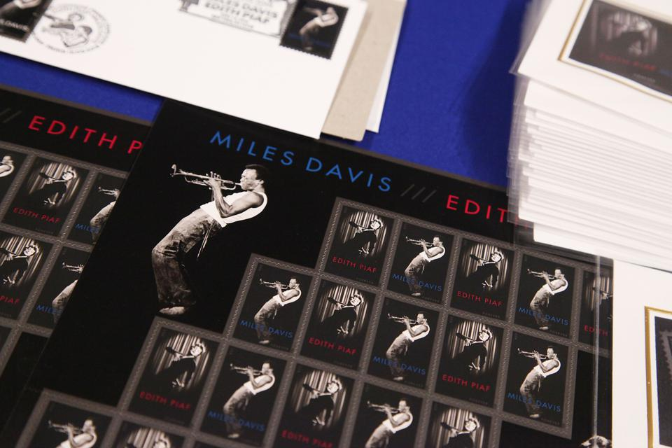 The United States Postal Service and France's La Poste Miles Davis And Edith Piaf Stamp Unveiling